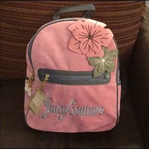 NWT Velour Pink/Grey JUICY COUTURE Backpack